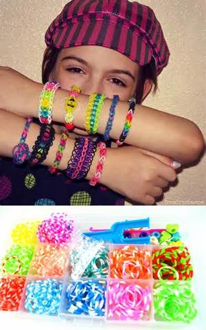 Rainbow Rack DIY Rubber Bracelets Silicone Weave Bands Box Knit Utilities Kits Set Toy, 600pcs bands+tools+1box(China (Mainland))