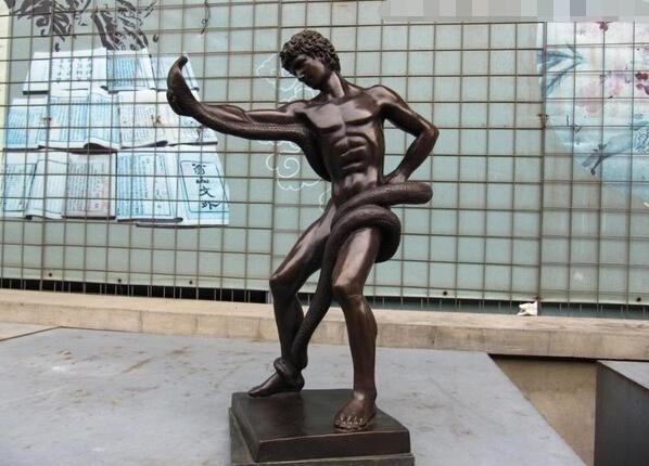 Hand to Hand Combat Sculpture Combat Snake Sculpture