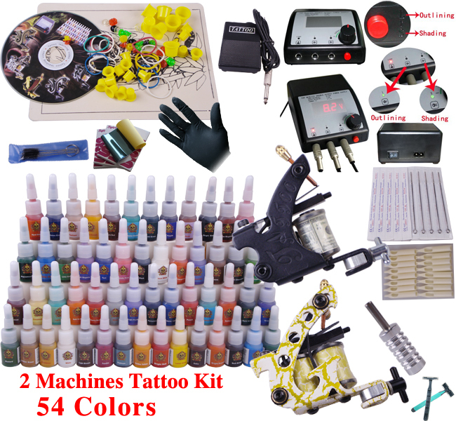 permanent make up tools tattoo set tattoo permanent makeup eyebrow professional body piercing kit YLT-11(China (Mainland))