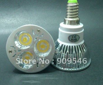 10pcs/lot DIMMABLE E14 LED 9W 3x3W CREE LED HIGH QUALITY E14 LAMP BULB (WE ALSO HAVE 1W 3W 6W 9W 12W )