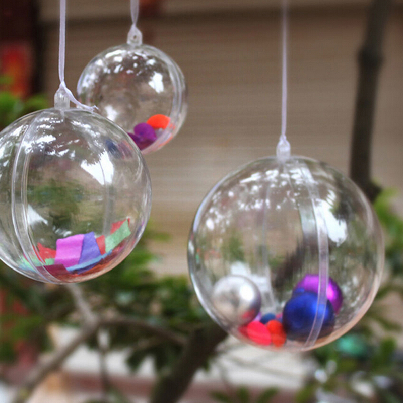 New 8cm Clear Christmas Decoration Hanging Ball Baubles Round Bauble Ornament Xmas Tree Home Decor Christmas Tree Xmas(China (Mainland))