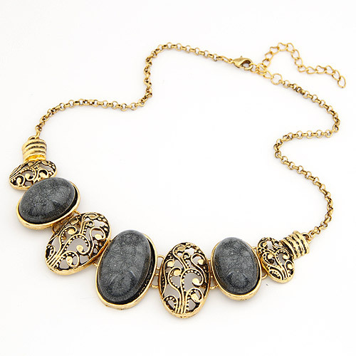 wholesale cheap jewelry fashion exaggerated vintage oval