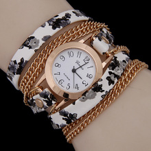 6 Colors New Arrival luxury brand Casual Women s Watches PU Leather Korean Crystal Rivet Bracelet