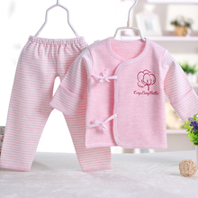 0-6 months 100% cotton material newborn baby girl 2 piece clothing set 4 color choice baby sleep wearing BC3334(China (Mainland))