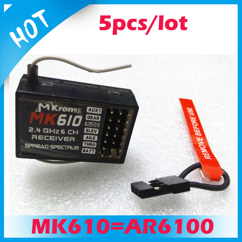 Good price 5pcs 2.4G 6CH MK610 RC receiver function better than AR6100 receiver<br><br>Aliexpress