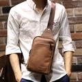 Brand Bag Men Chest Pack Sling Single Shoulder Strap Pack Bag PU Leather Travel Bag Men