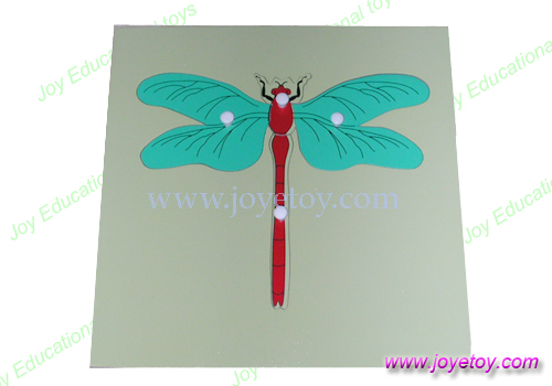 dragonfly puzzle montessori materials school educational earning wooden toys classic baby kids early learning educational wood(China (Mainland))