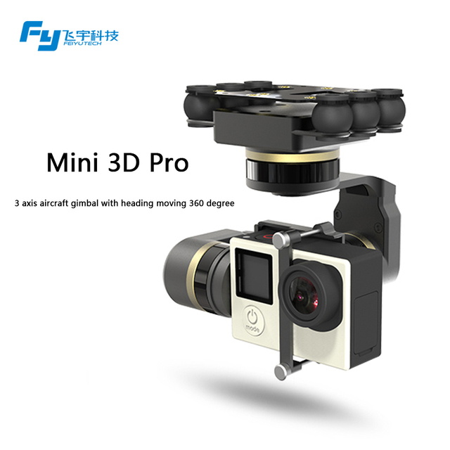 FeiyuTech newest Mini 3D Pro 3 axis brushless aircraft  gimbal for Helicopters