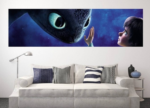 Giant size how to train your dragon 2 wall art sticker wall decals 140x40cm, 55.12