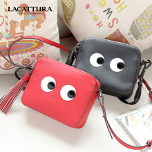 Women messenger bags handbags women famous Genuine 2016 small size shoulder bags women leather handbags eyes cow leather bags