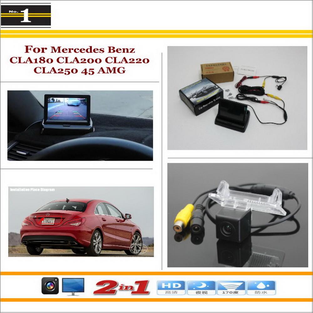 For Mercedes Benz CLA180 CLA200 CLA220 CLA250 CLA45 - Reverse Rear Camera + 4.3