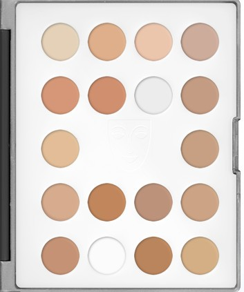KRYOLAN High Definition Micro Foundation Cream 18 Colors Mini Palette nude makeup/cosmetics concealing contour trimming 2014 new(China (Mainland))