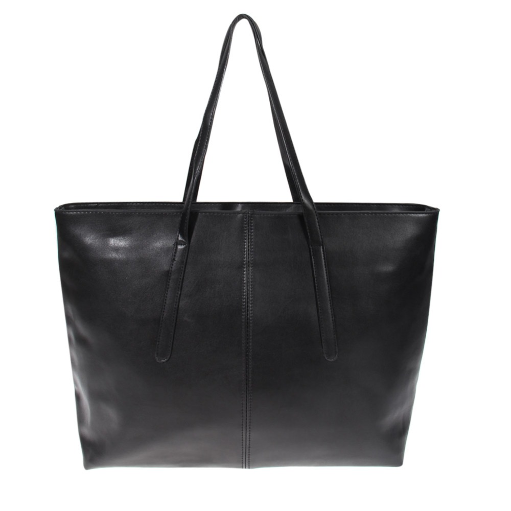 New Arrival Women's Handbag Bag Shoulder Bag Japanned Leather PU Leather Shopping Tote Large Capacity Black Handbags(China (Mainland))