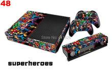 Superhero Skin Sticker For Microsoft Xbox one Console + Controller Anti-Dust skin cover