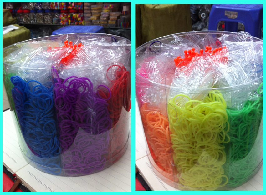 8000 pcs Bands 2014 New Fashion DIY Rubber  Loom Band 1 Cylinder  +15Hooks +200 S-clips Loom Bands Refills Free Shipping