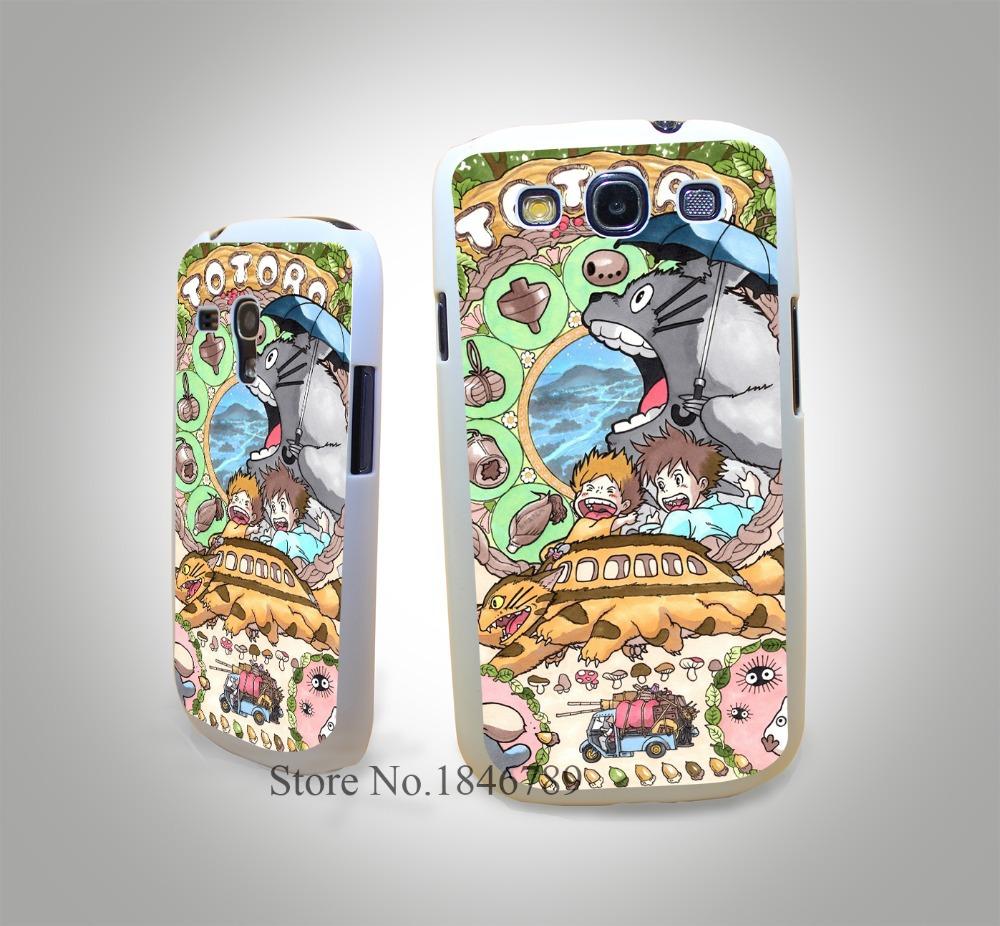 New Japan Anime Spirited Away Totoro White Hard Case Cover for Samsung Galaxy S3 S3 Mini S4 s4 Mini S5 S5 Mini S6 s6 Edge(China (Mainland))