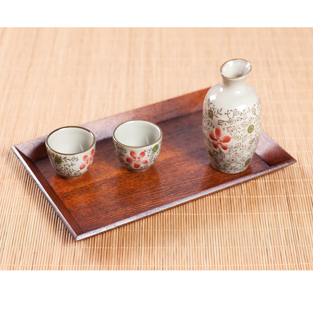 Japanese Wood Tray Large Serving Table Bed Breakfast Drinks Rustic Decoration Medium Size 35 * 22 * 4cm(China (Mainland))
