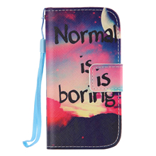 For samsung galaxy s4 mini 8190 case Painting Patterns Lanyard Flip Leathert Phone Case For samsung s4 mini Strap Stand Cover(China (Mainland))