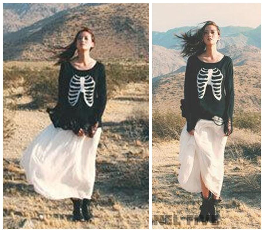 Женская модный WILDFOX блесток череп бусины отверстия свитер русалка нерегулярные подол широкий трикотажные вязания крючком отверстие свитер топы