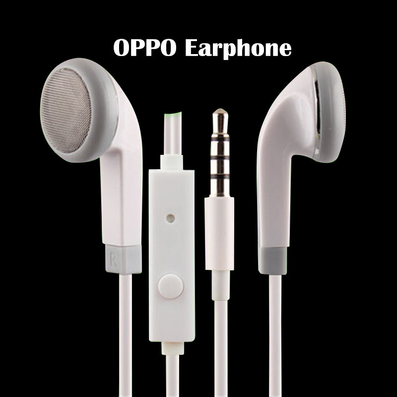 Oppo R7 In-ear flat 3.5MM earphone with mic and voice control noise canceling Earplug for Oppo.(China (Mainland))