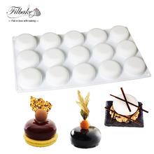 15 Cavity Round Stone Shaped Silicone Mold Baking and Dessert Molds(China (Mainland))