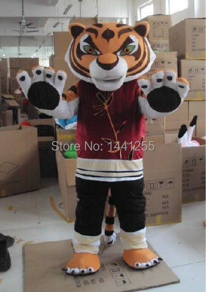 Adult Kung Fu Pandas Kung Fu Tiger Mascot Costume Kung Fu Tiger Mascot Costume free shippingОдежда и ак�е��уары<br><br><br>Aliexpress