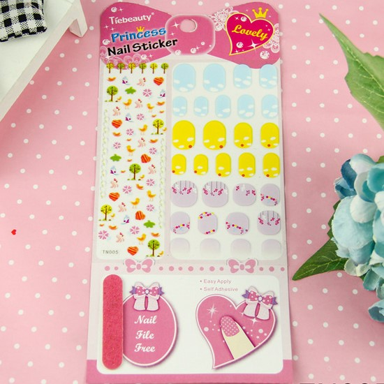 Wholesale Customization Children Nail Sticker Free Nail File Princess Manicure Sticker Kid Health Decals 2000pks free shipping<br><br>Aliexpress