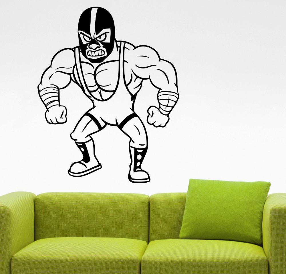 mexicana luchador diseo deportes gimnasio deportes tatuajes de pared pegatinas de pared interior de la casa