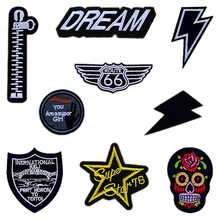 1 PCS Patches for Clothing Free Shipping British Style Fashion Patches for Clothes Badges Parches Bordados Cloth Patch(China (Mainland))