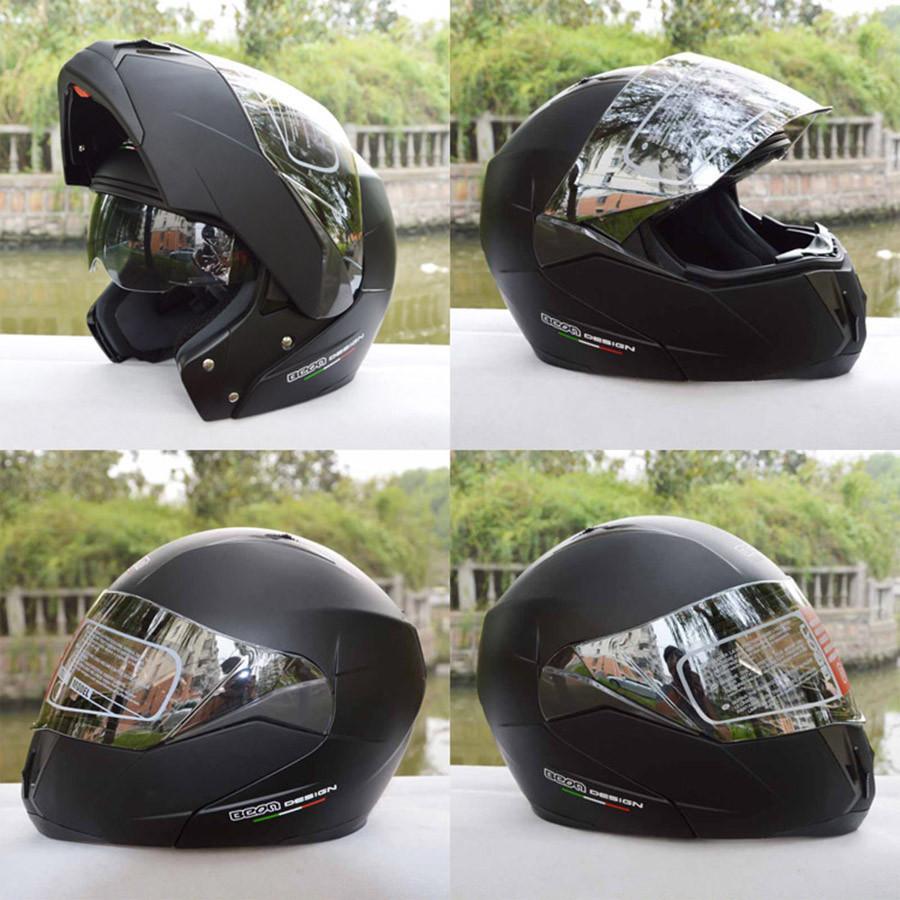 DOT Full Face Motorcycle Helmet Flip Up Scooter Electric Motorbike Helmet With Sun Visor Double Lens Moto Casque For Female Male
