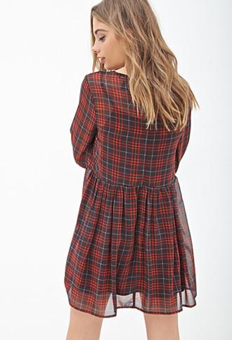 Платье женское лето осень опрятный стиль ciffon o шеи три четверти проверить печать талии плиссированные колен повседневные платья
