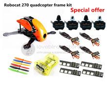 DIY FPV race mini drone Robocat 270 quadcopter frame kit 4-axis pure carbon CC3D + D2204 + BL12A ESC + LED light Special price