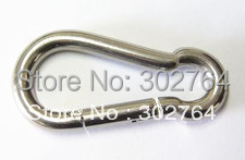 6*60*100pcs m6 snap hook din5299 form C STAINLESS STEEL 304 (FREE SHIP) marine boat ,rigging(China (Mainland))