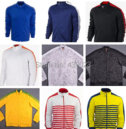 Top New Real Madrid AC Milan Chelsea Winter Football Training Jacket 2015 Home red Top Quality 15 16 Training Soccer Jacket Coat(China (Mainland))