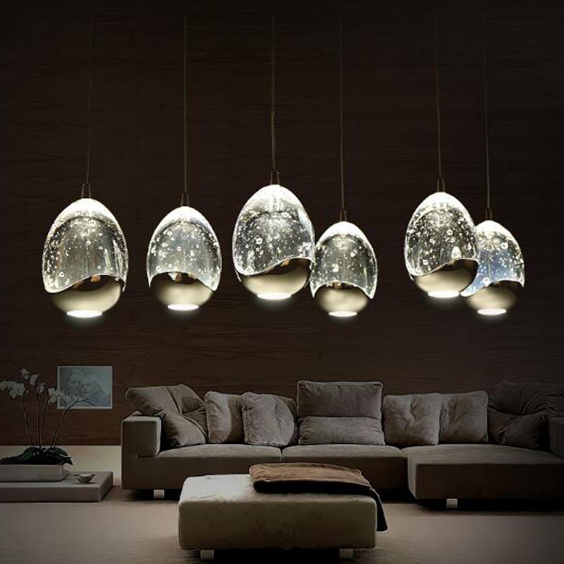 2016 NEW Modern LED Chandeliers 4.5W bubble glass for dining room bedroom studyroom chandelier lighting lampadario Gold / Silver<br><br>Aliexpress
