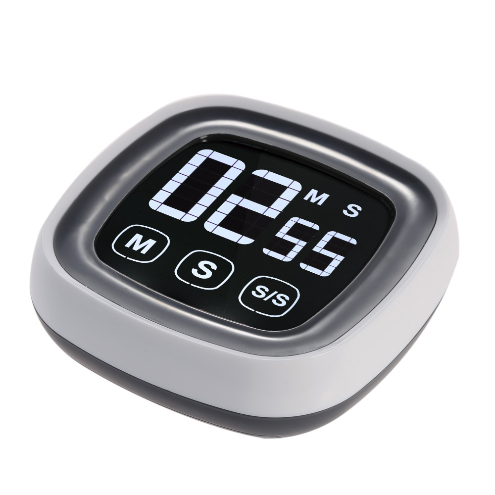 Free shipping, LCD screen kitchen timer, touch screen kitchen timer, electronic alarm clock(China (Mainland))