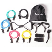 12pcs resistance bands exercise set fitness tube yoga workout pilates for wholesale and free shipping kylin sport