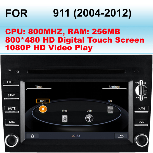 For Porsche 911 Car stereo (2004-2012) Support GPS Dual Zone (Can Listen CD, Radio When Watching GPS Image)(China (Mainland))