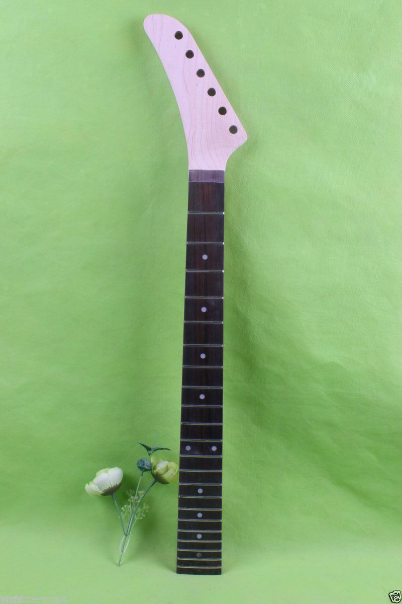 Left hand electric guitar neck 22 fret 25.5 maple Fretboard Unfinished #1775<br><br>Aliexpress