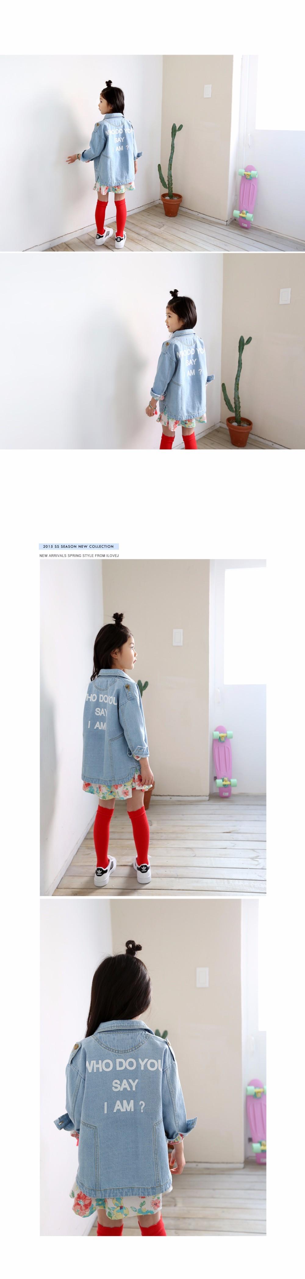 Скидки на Весна девушка ковбой одежда детская одежда дети письмо куртки ветровка куртка джинсовая мода пальто