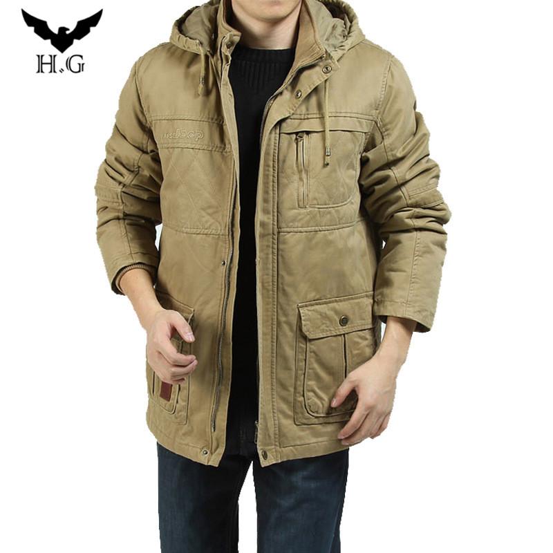Fashion Men Overcoat Hoodie Coat Man Parka Hoody Outercoat Fur Winter Jackets Coats Jacket