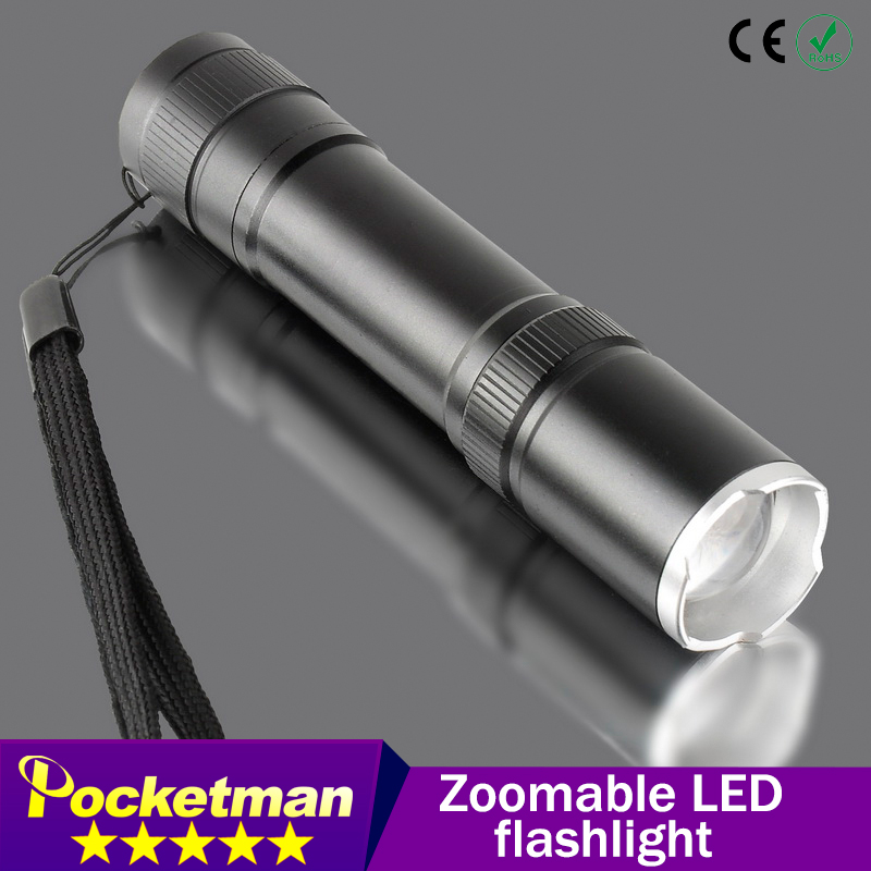 CREE XML T6 2000LM led flashlight Zoomable Tol selling cree Torch lamplight for 1x18650 battery free shipping ZK93(China (Mainland))
