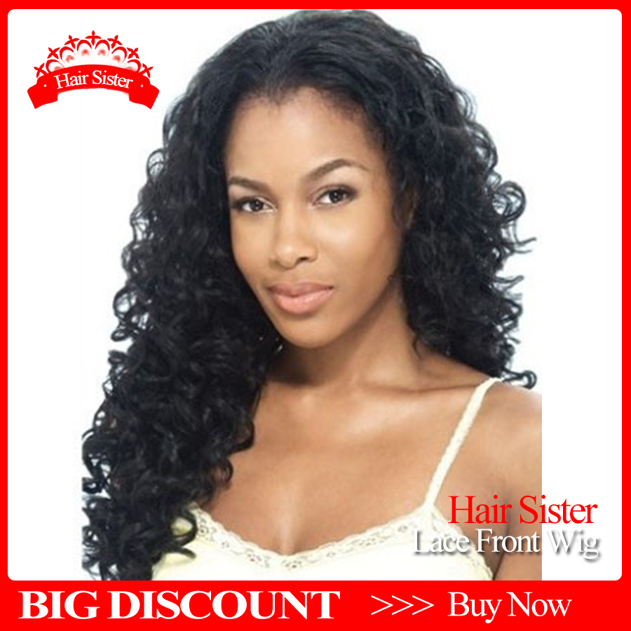Hot! Top Quality Fiber Loose Curly Wigs Synthetic Lace Front Wigs 150% Density Black Color Heat Resistant Synthetic Hair Wigs<br><br>Aliexpress