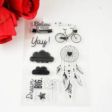DECORA 1 STÜCKE fahrrad Klar Transparent Stempel DIY Scrapbooking/Kartenherstellung/Weihnachtsdekoration Lieferungen(China (Mainland))
