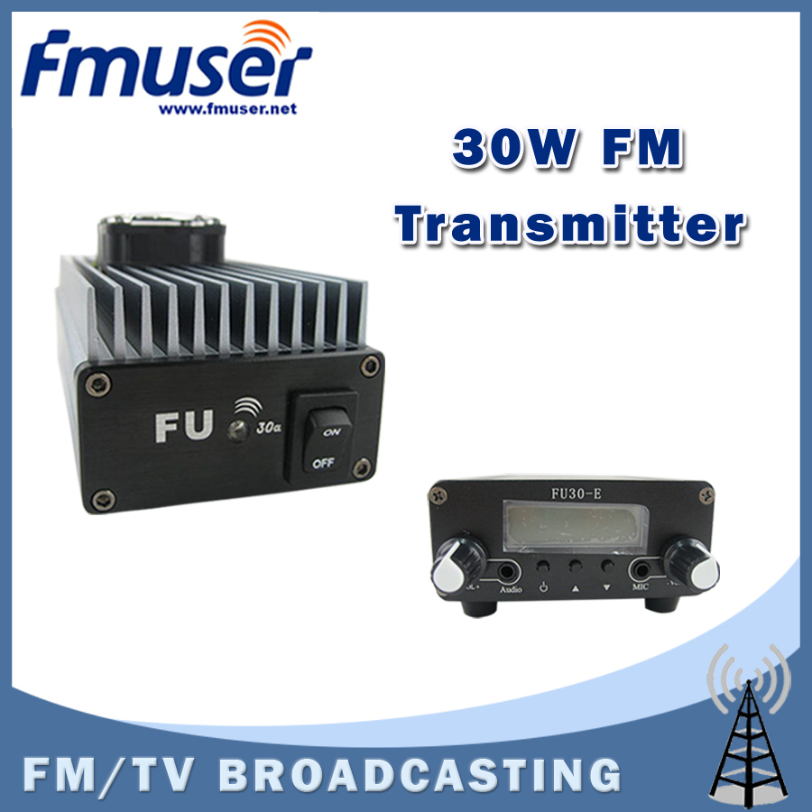 Free shipping FMUSER FU-30A 30W Professional FM amplifier power amplifier Set for FM transmitter+FU-30E 0.2w FM exciter(China (Mainland))