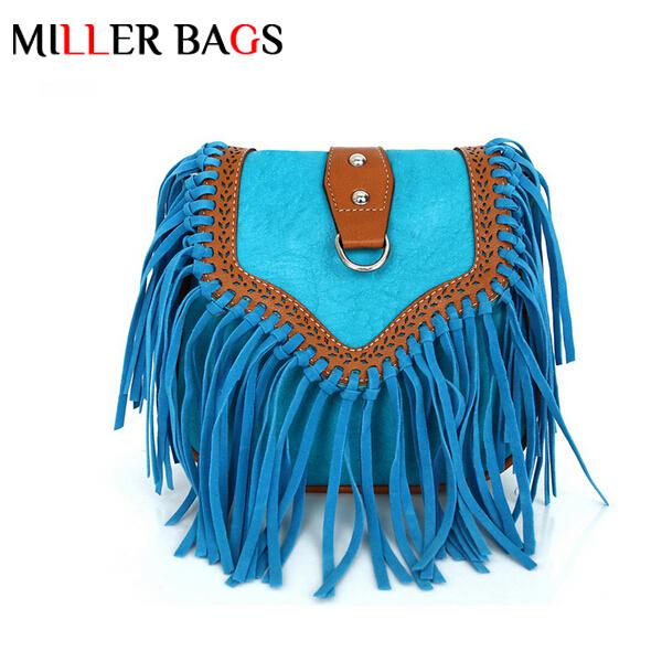 2015 vintage envelope fringe bag one shoulder messenger bag small tassel satchel female mini party bags bolsa de flecos sac tote(China (Mainland))