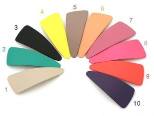 Bb clip rubber paint side-knotted clip hair accessory candy scrub matt drop clip hairpin side-knotted clip