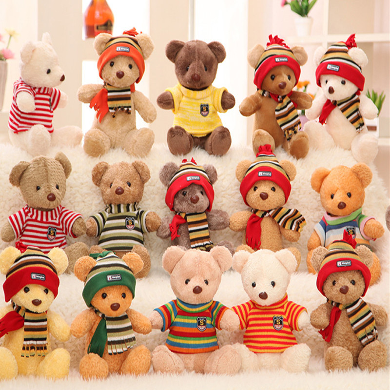 export quality The teddy bear doll plush toys wholesale clothing sweater bear wedding gift manufacturers girl boy gift(China (Mainland))