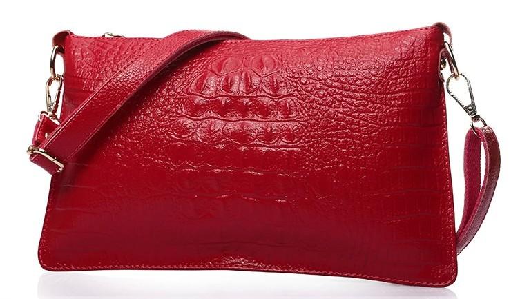 2015 new Guaranteed 100% cowskin leather bag women clutch bag small Bags fake Crocodile leather girl handbags women shoulder bag(China (Mainland))