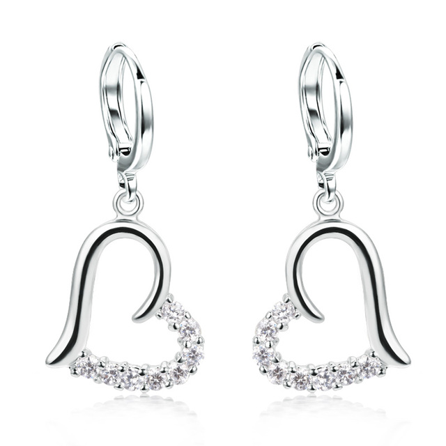 Free Shipping Quality Classic Earrings Female Long  Drop Earrings Ear Clip Sparkling Diamond  Min Order $20